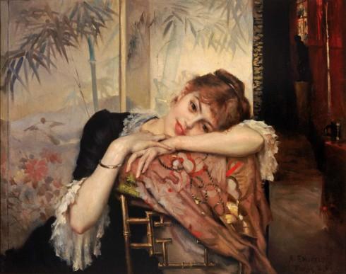 Albert Edelfelt, Virginie, 1883. Olie på lærred. 73,5 x 92,5 cm. Arla Cederberg Collection, Joensuu Art Museum. Foto: Kari Hyttinen