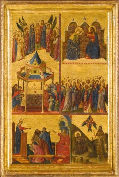 """Scenes from the Lives of the Virgin and other Saints"" av Giovanni da Rimini, cirka 1305"