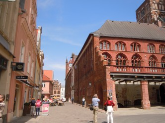 Stralsund, Rathaus, Unescos Verdensarvliste, Wismar, Lübeck, Hansaen, Hanseatforbundet, Mecklenburg Vorpommern, Nord-Tyskland