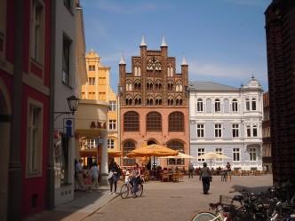 Stralsund, Alter Markt, Wulframhaus, Unescos Verdensarvliste, Wismar, Lübeck, Hansaen, Hanseatforbundet, Mecklenburg Vorpommern, Nord-Tyskland