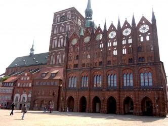 Rathaus, Alter Markt, Unesco, Stralsund, Nord-Tyskland