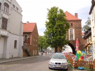 Stralsund, Kniepertor, middelalder, Backsteinsgotik, Ostsee, Unesco Verdensarv, Gamlebyen, Altstadt, Hansestadt Wismar, Mecklenburg Vorpommern, Østersjøen, Nord-Tyskland