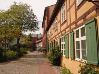 Johanniskloster, bindingsverkhus, Unesco, Stralsund, Nord-Tyskland