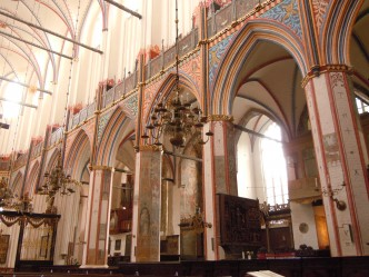 St. Nikolai-Kirche, skipet, Unesco, Stralsund, Nord-Tyskland