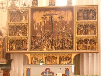 St. Nikolai-Kirche, høyalter, sengotisk, Stralsund, middelalder, Unesco Verdensarv