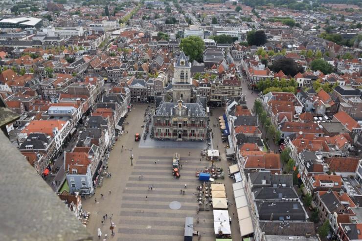 litt av en utsikt fra tårnet til Nieuwe Kerk. Foto: © ReisDit.no