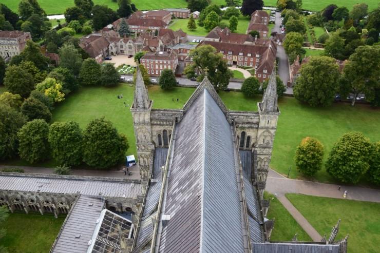 Utsikten fra øverste avsats i tårnet er flott. Foto: © ReisDit.no