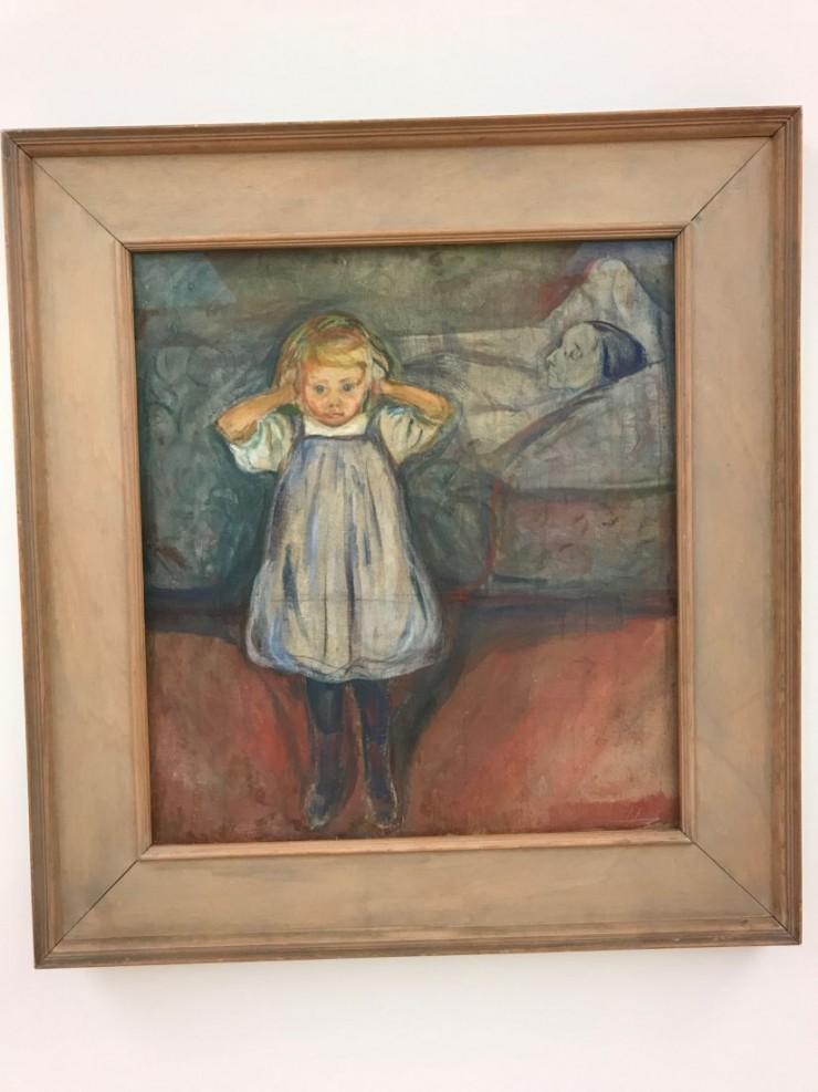 Edvard Munch: Barnet og døden. 1899. Foto: © ReisDit.no