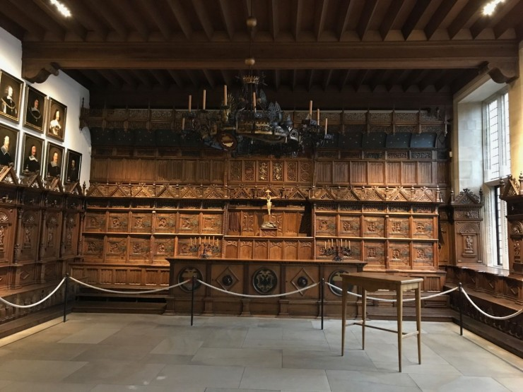 Friedenssaal - fredssalen - i rådhuset spilte en viktig rolle i Westfahlenfreden i 1648, som ble slutten på 30-årskrigen. Foto: © ReisDit.no