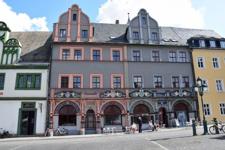 Cranachhaus fra 1400-tallet på Markt i Weimar. Foto: © ReisDit.no