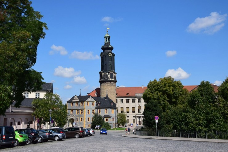Stadtschloss ligger i sentrum av Weimar. Foto: © ReisDit.no