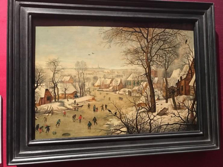 """Pieter Bruegel d.y.: """"Vinterlandskap"""" datert år 1626. Foto: © ReisDit.no"""