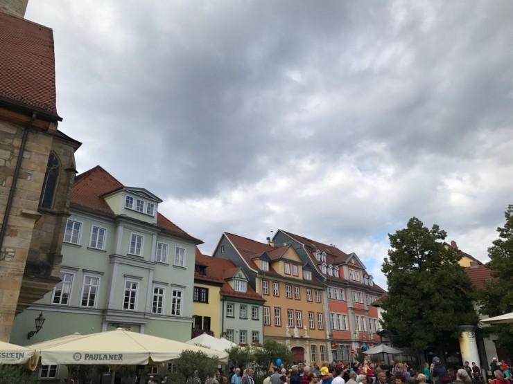 Tilbake på Wenigermarkt i Erfurt. Foto: © ReisDit.no