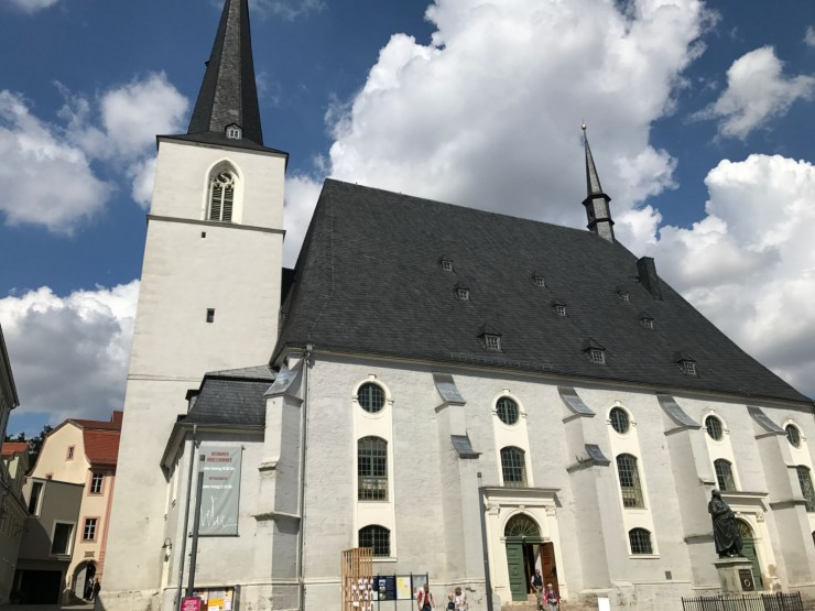 Stadtkirche St. Peter u. Paul, hvor Martin Luther har holdt flere prekener for rundt 500 år siden. Foto: © ReisDit.no