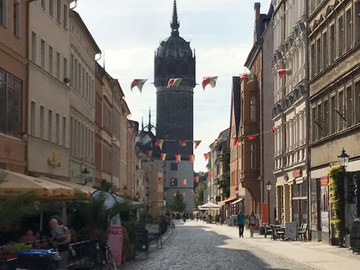 Schlosstrasse er Lutherstadt Wittenbergs hovedgate. Foto: © ReisDit.no