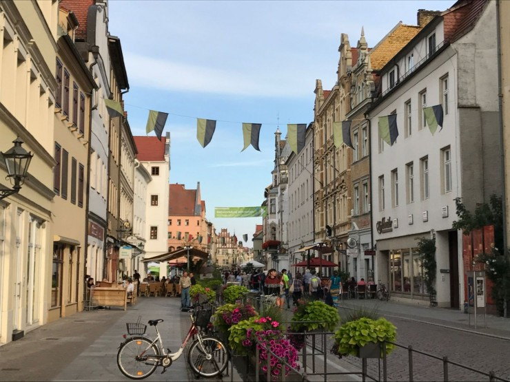 Fra Lutherstadt Wittenbergs bilfrie sentrum. Foto: © ReisDit.no