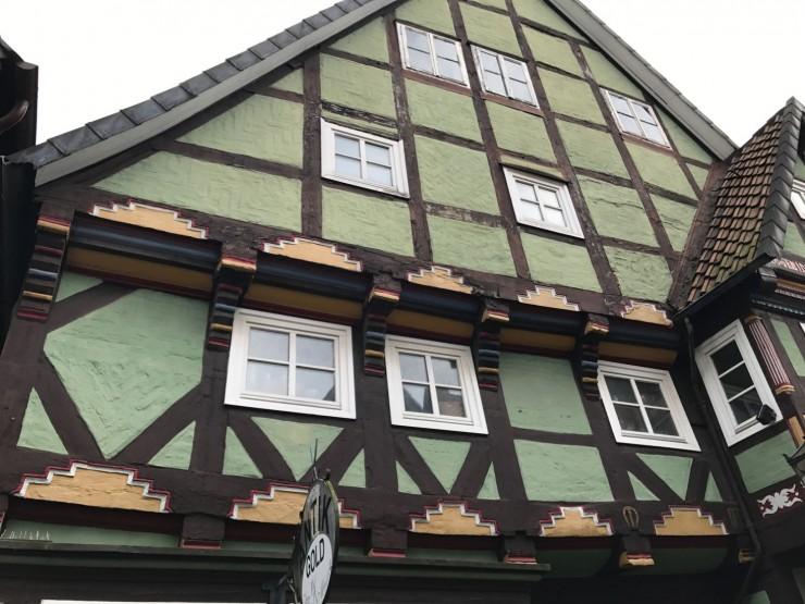 Et av Celles eldste bindingsverkshus. Foto: © ReisDit.no