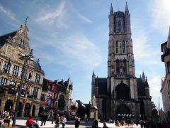Ghent, kanaler, St Baafs Plas, historisk, Unescos liste over Verdensarven, øl, bryggerier, gourmet, gamleby, gotikken, renessansen, barokken, Flandern, Belgia