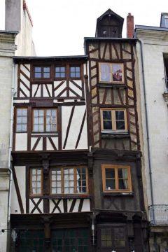 Nantes, historisk, bindingsverkshus, gamleby, middelalder, Bretagne, Vest-Frankrike, Frankrike