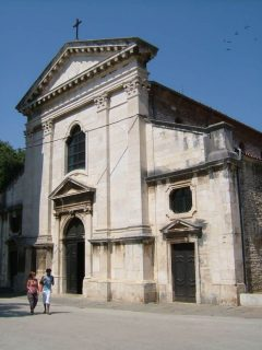 Pula, katedralen Santa Maria, gamlebyen, historisk bysenter, romertid, amfiteater, Istria, Kroatia