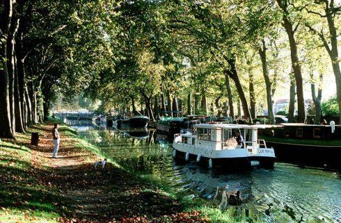 Canal du Midi, Toulouse, Sør-Frankrike, Frankrike