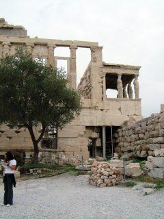 Erechteieon-tempelet på Akropolis, Athen, Hellas, antikken