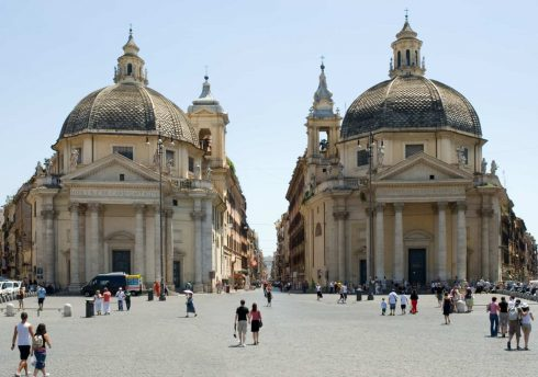 Piazza del Popolo, Roma, Unescos liste over Verdensarven, romerriket, Forum, antikken, historiske bydeler, gamlebyen, Trastevere, den evige stad, Tiber, Vatikanet, Panthon, Roma, Midt-Italia, Italia