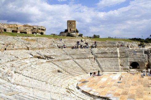 gresk teater, Siracusa, Sicilia, Italia