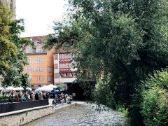 Erfurt, Thüringen, Tyskland, middelalder, Krämerbrücke, Gera