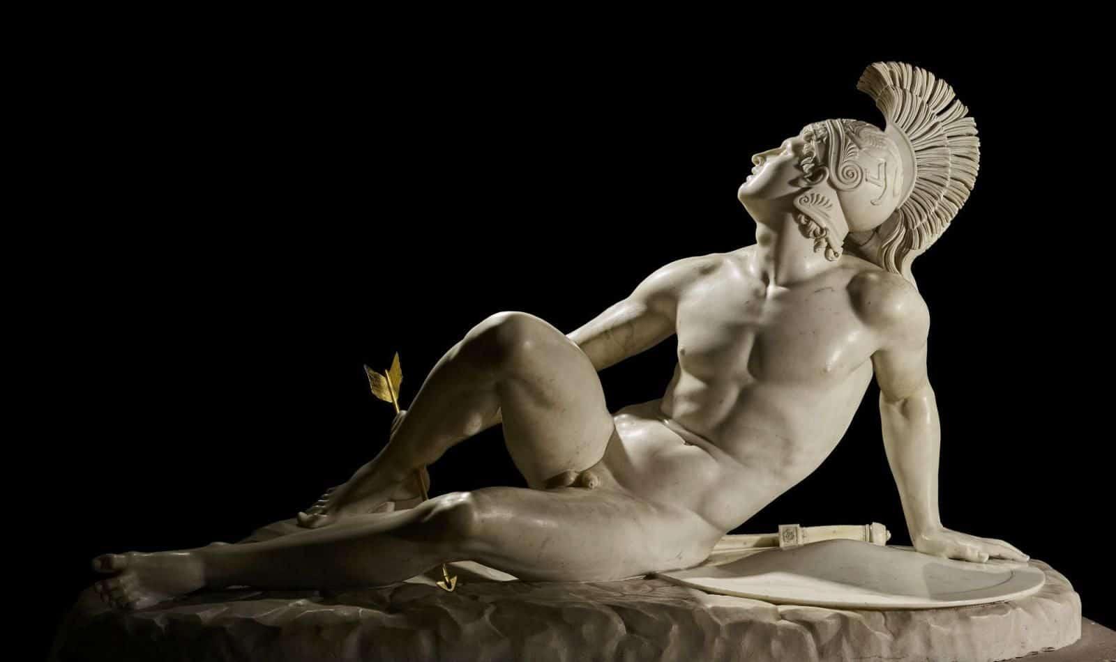Den sårede Akilles. Skulptur av Filippo Albacini fra 1825. Foto: The Devonshire Collections, Chatsworth.