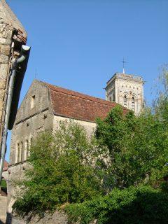 Cathedral La Madeleine en Vezelay, Bourgogne, Midt-Frankrike, Frankrike